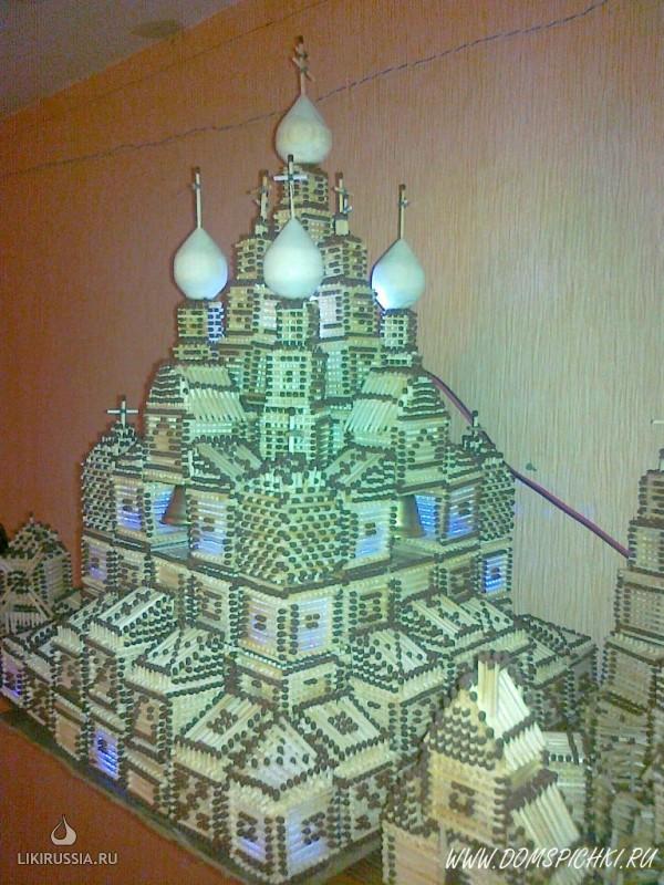 Церкви и храмы из спичек.